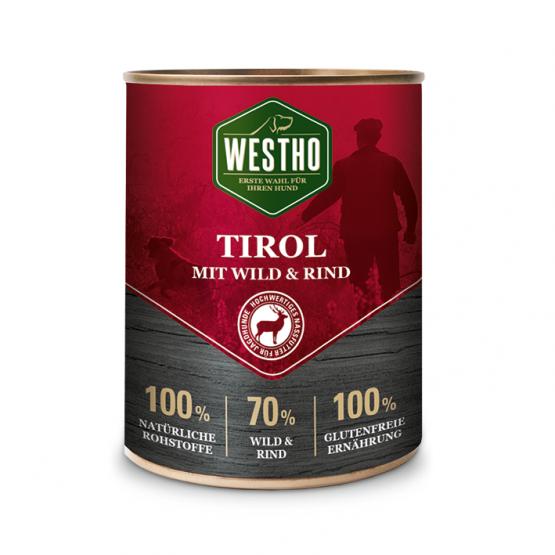 Tirol 800g (mit Rind & Wild) Alleinfutter für Hunde